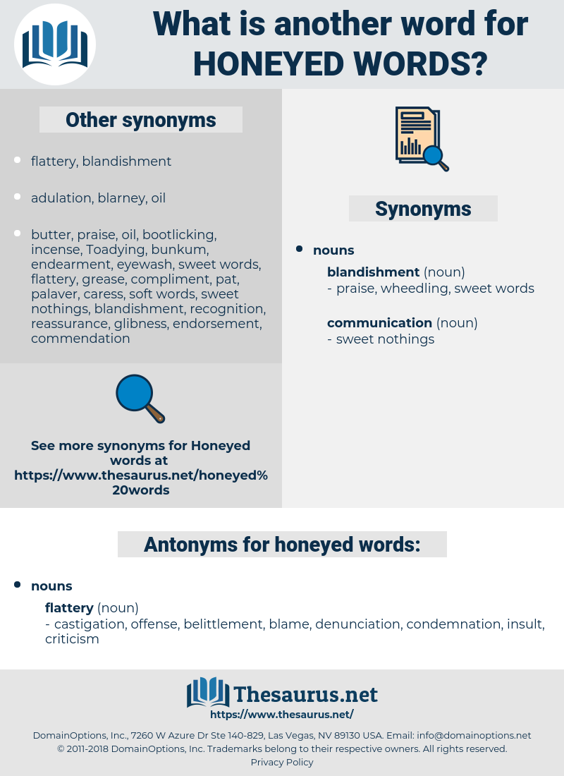 honeyed words, synonym honeyed words, another word for honeyed words, words like honeyed words, thesaurus honeyed words
