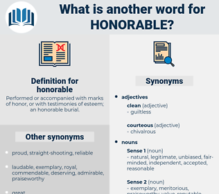 honorable, synonym honorable, another word for honorable, words like honorable, thesaurus honorable