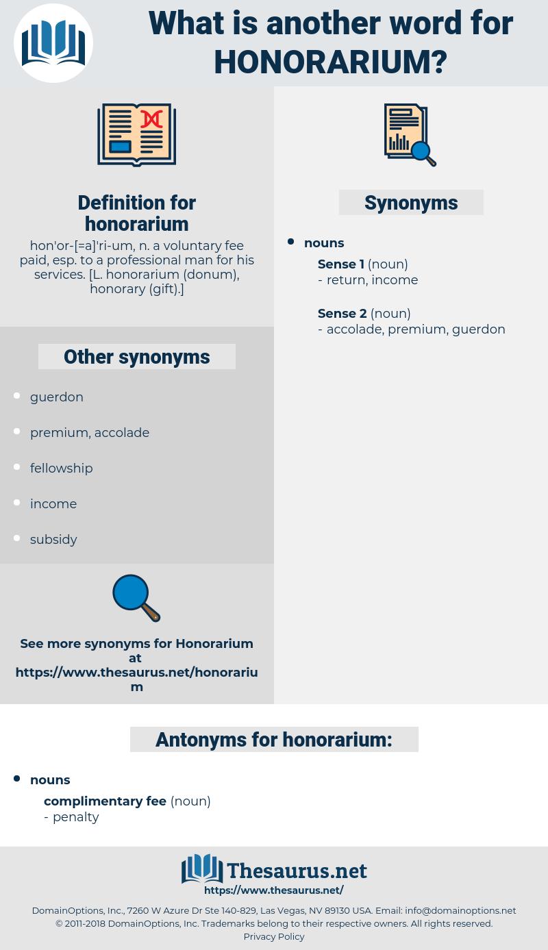 honorarium, synonym honorarium, another word for honorarium, words like honorarium, thesaurus honorarium
