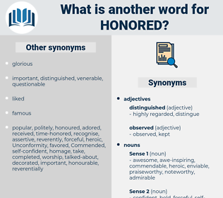 honored, synonym honored, another word for honored, words like honored, thesaurus honored
