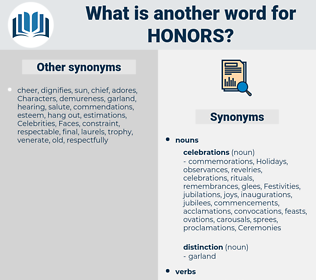 honors, synonym honors, another word for honors, words like honors, thesaurus honors