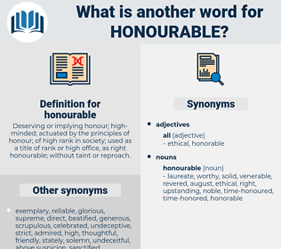 honourable, synonym honourable, another word for honourable, words like honourable, thesaurus honourable