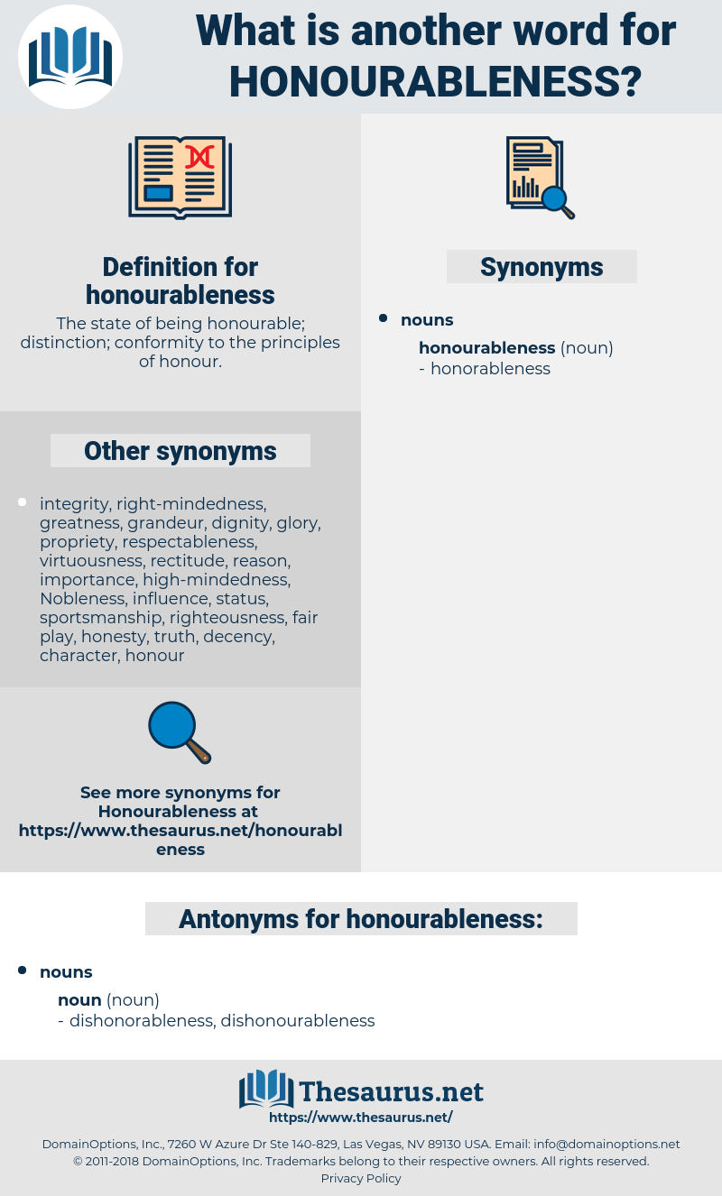 honourableness, synonym honourableness, another word for honourableness, words like honourableness, thesaurus honourableness
