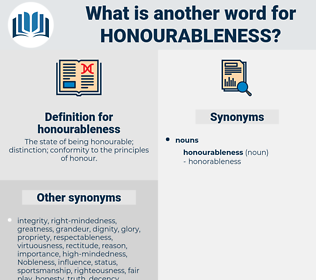 honourableness, synonym honourableness, another word for honourableness, words like honourableness, thesaurus honourableness