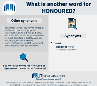 honoured, synonym honoured, another word for honoured, words like honoured, thesaurus honoured