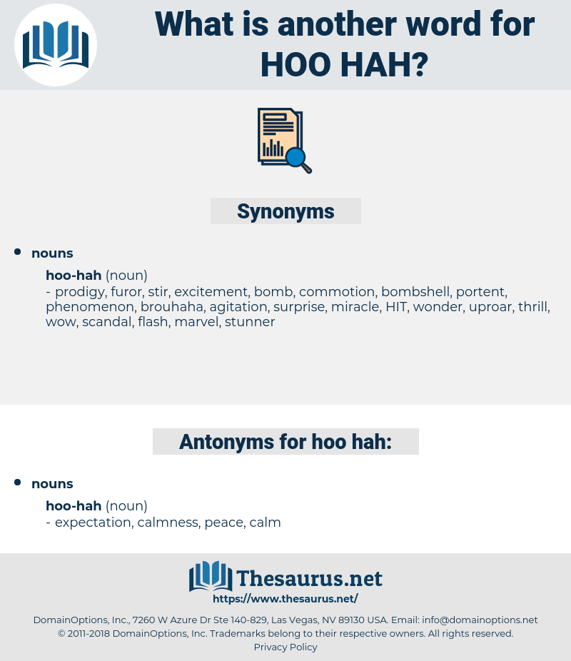 hoo-hah, synonym hoo-hah, another word for hoo-hah, words like hoo-hah, thesaurus hoo-hah