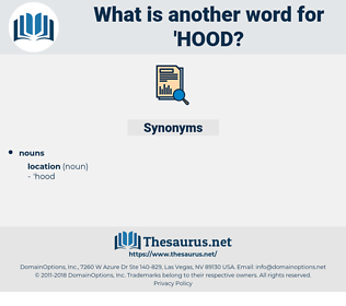 hood, synonym hood, another word for hood, words like hood, thesaurus hood