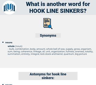 hook line sinkers, synonym hook line sinkers, another word for hook line sinkers, words like hook line sinkers, thesaurus hook line sinkers