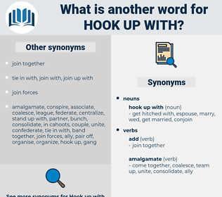 hook up with, synonym hook up with, another word for hook up with, words like hook up with, thesaurus hook up with