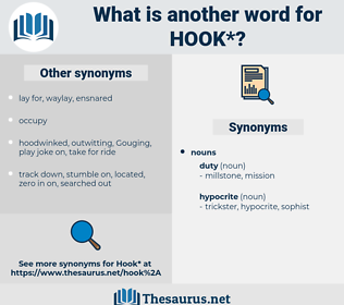 hook, synonym hook, another word for hook, words like hook, thesaurus hook