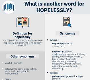 hopelessly, synonym hopelessly, another word for hopelessly, words like hopelessly, thesaurus hopelessly