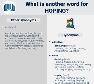 Hoping, synonym Hoping, another word for Hoping, words like Hoping, thesaurus Hoping
