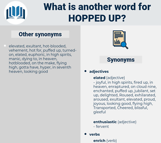 hopped-up, synonym hopped-up, another word for hopped-up, words like hopped-up, thesaurus hopped-up
