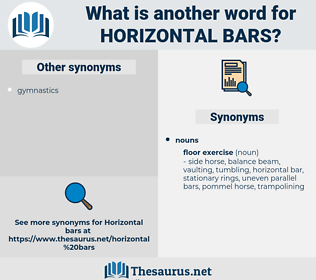 horizontal bars, synonym horizontal bars, another word for horizontal bars, words like horizontal bars, thesaurus horizontal bars