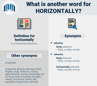 horizontally, synonym horizontally, another word for horizontally, words like horizontally, thesaurus horizontally