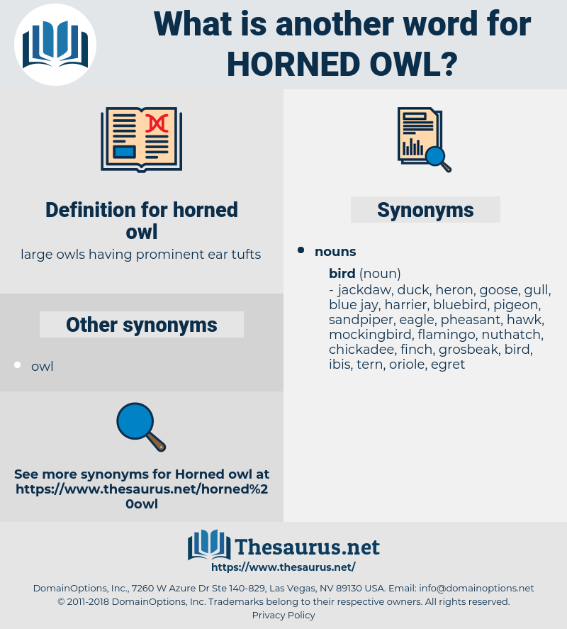 horned owl, synonym horned owl, another word for horned owl, words like horned owl, thesaurus horned owl