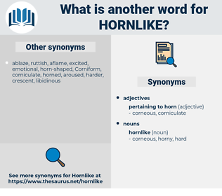 hornlike, synonym hornlike, another word for hornlike, words like hornlike, thesaurus hornlike