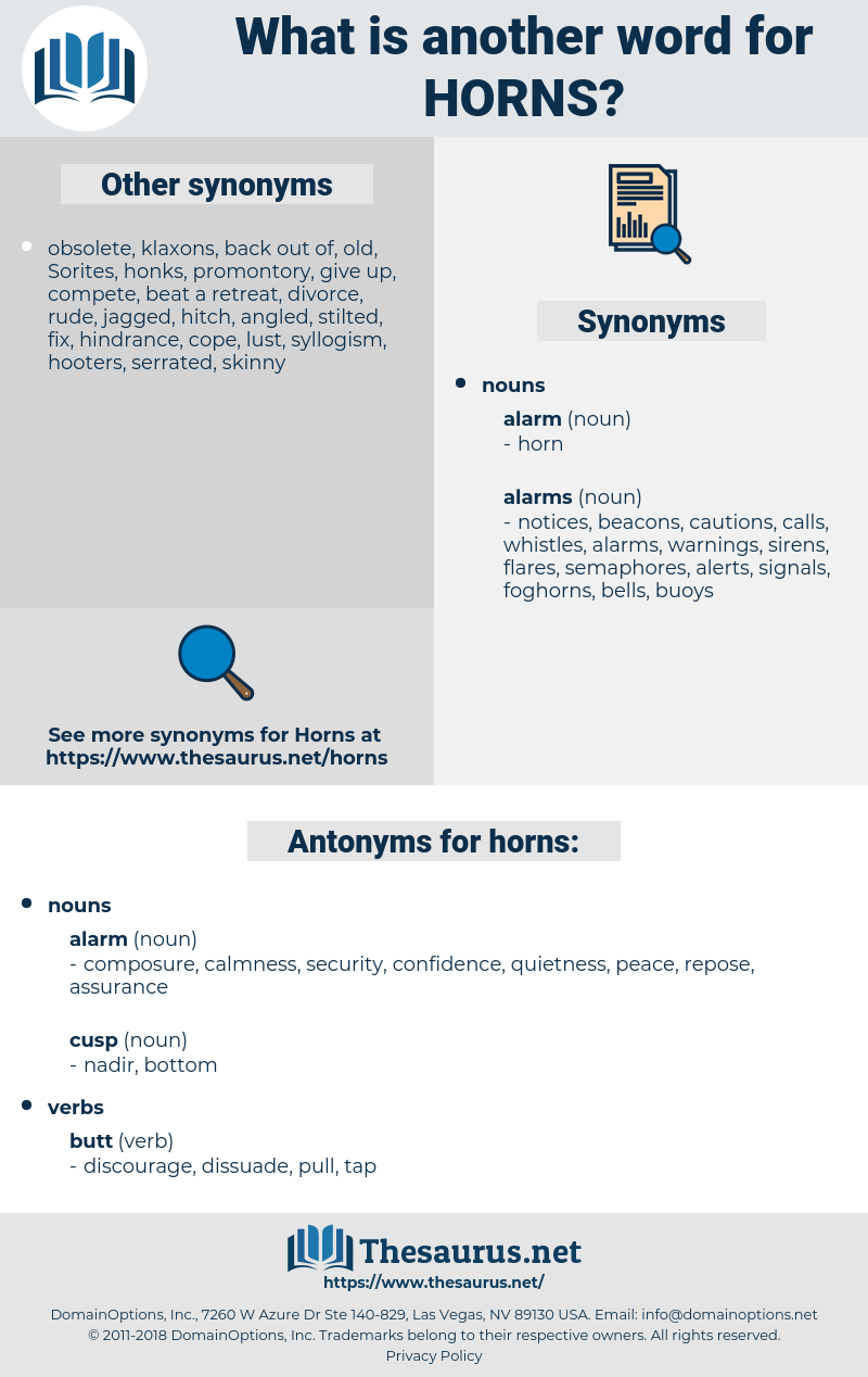 horns, synonym horns, another word for horns, words like horns, thesaurus horns