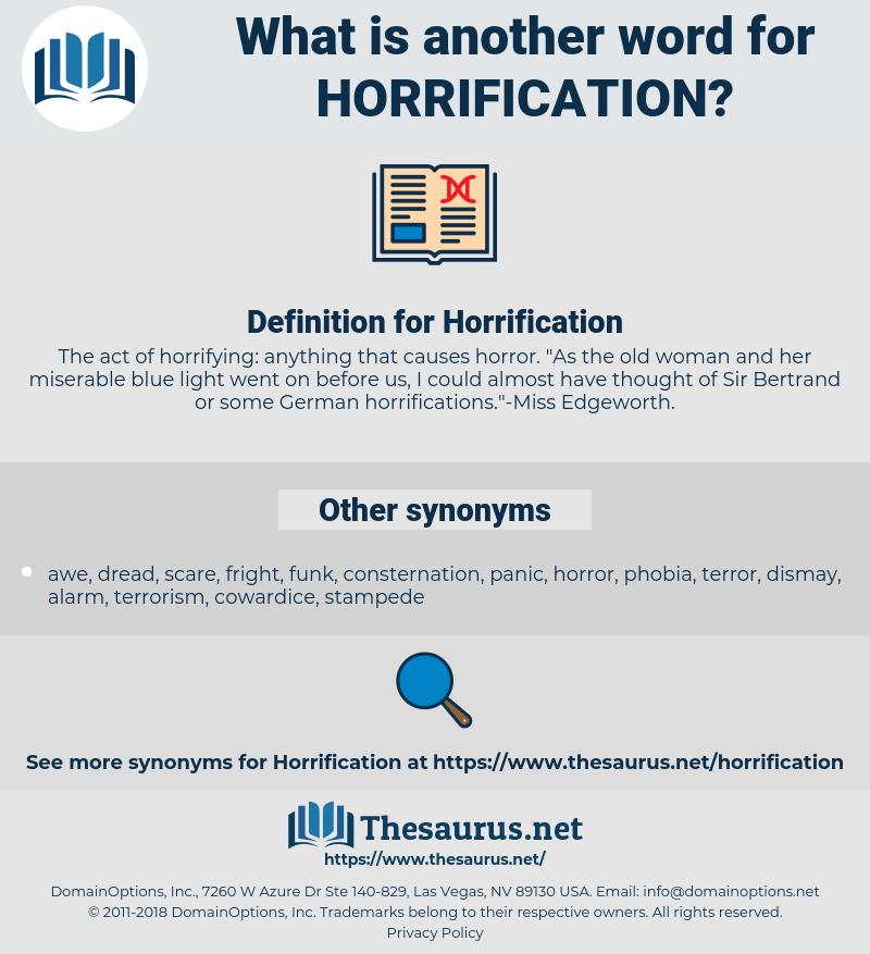 Horrification, synonym Horrification, another word for Horrification, words like Horrification, thesaurus Horrification