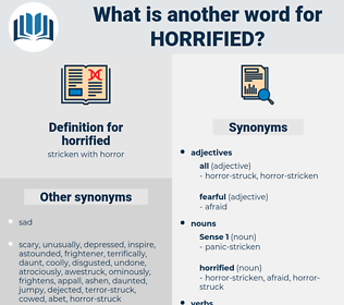 horrified, synonym horrified, another word for horrified, words like horrified, thesaurus horrified