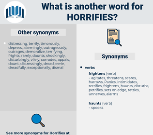horrifies, synonym horrifies, another word for horrifies, words like horrifies, thesaurus horrifies