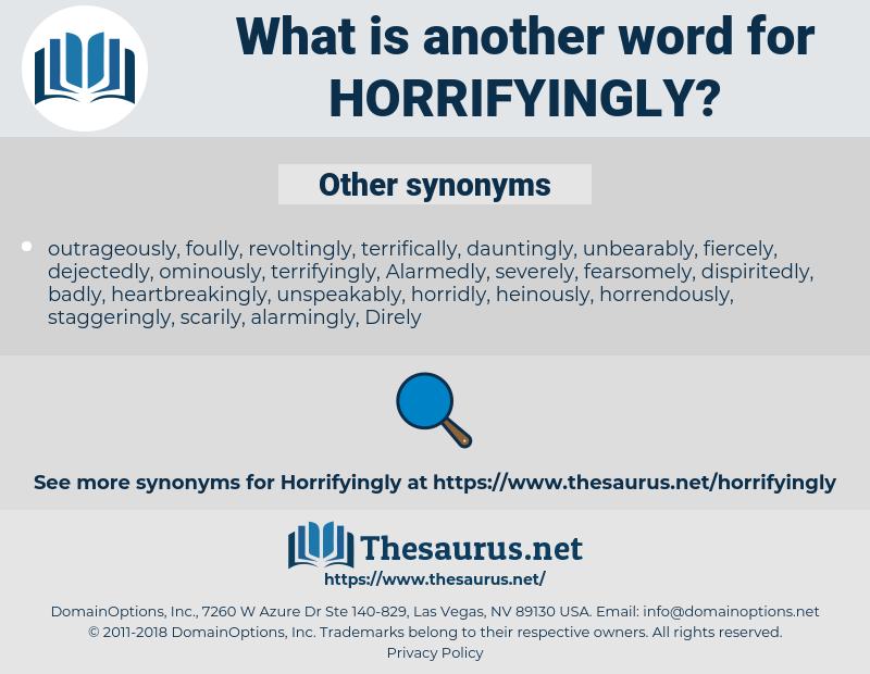 horrifyingly, synonym horrifyingly, another word for horrifyingly, words like horrifyingly, thesaurus horrifyingly
