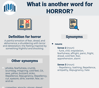 horror, synonym horror, another word for horror, words like horror, thesaurus horror