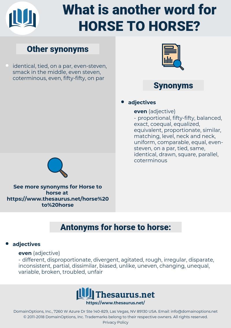 horse to horse, synonym horse to horse, another word for horse to horse, words like horse to horse, thesaurus horse to horse