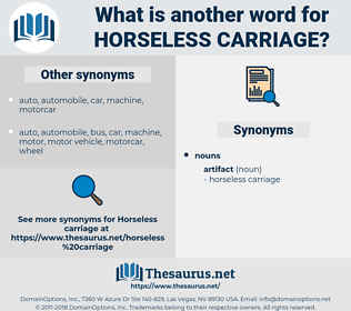 horseless carriage, synonym horseless carriage, another word for horseless carriage, words like horseless carriage, thesaurus horseless carriage