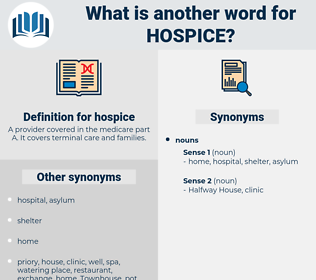 hospice, synonym hospice, another word for hospice, words like hospice, thesaurus hospice