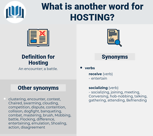 Hosting, synonym Hosting, another word for Hosting, words like Hosting, thesaurus Hosting