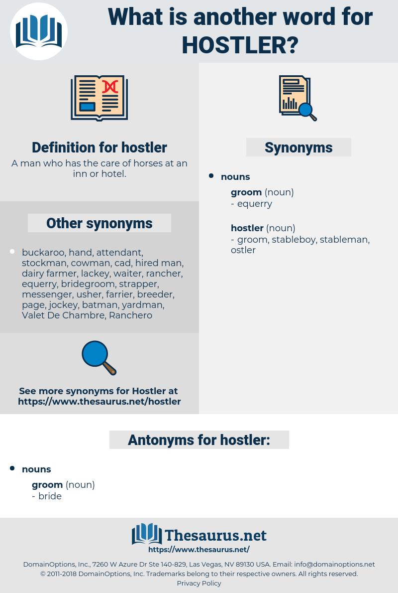 hostler, synonym hostler, another word for hostler, words like hostler, thesaurus hostler