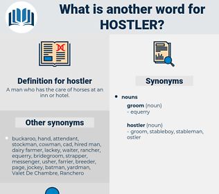 hostler, synonym hostler, another word for hostler, words like hostler, thesaurus hostler