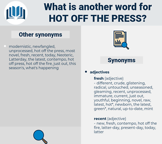 hot off the press, synonym hot off the press, another word for hot off the press, words like hot off the press, thesaurus hot off the press
