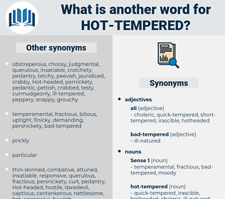 hot-tempered, synonym hot-tempered, another word for hot-tempered, words like hot-tempered, thesaurus hot-tempered