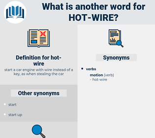 hot wire, synonym hot wire, another word for hot wire, words like hot wire, thesaurus hot wire