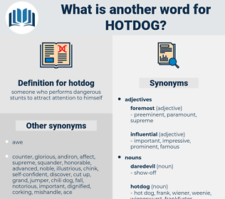 hotdog, synonym hotdog, another word for hotdog, words like hotdog, thesaurus hotdog