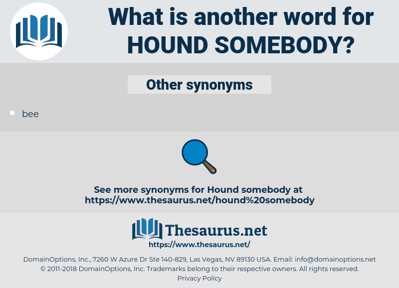 hound somebody, synonym hound somebody, another word for hound somebody, words like hound somebody, thesaurus hound somebody