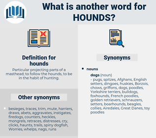 hounds, synonym hounds, another word for hounds, words like hounds, thesaurus hounds