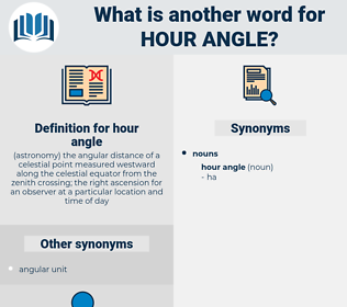 hour angle, synonym hour angle, another word for hour angle, words like hour angle, thesaurus hour angle