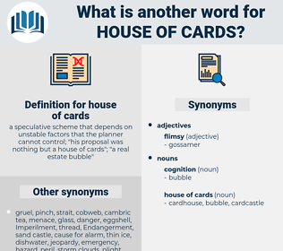 house of cards, synonym house of cards, another word for house of cards, words like house of cards, thesaurus house of cards