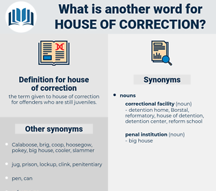 house of correction, synonym house of correction, another word for house of correction, words like house of correction, thesaurus house of correction