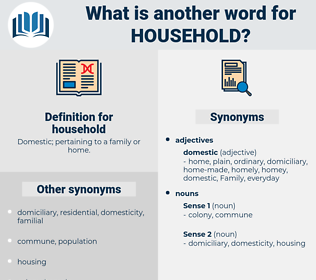 household, synonym household, another word for household, words like household, thesaurus household