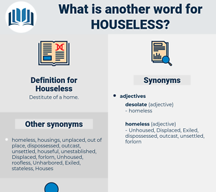 Houseless, synonym Houseless, another word for Houseless, words like Houseless, thesaurus Houseless