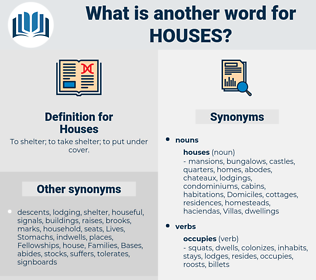 Houses, synonym Houses, another word for Houses, words like Houses, thesaurus Houses