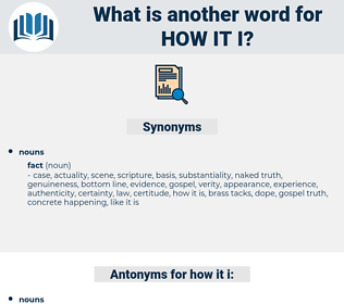how it i, synonym how it i, another word for how it i, words like how it i, thesaurus how it i