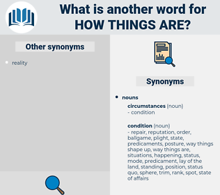 how things are, synonym how things are, another word for how things are, words like how things are, thesaurus how things are
