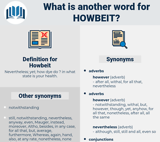 Howbeit, synonym Howbeit, another word for Howbeit, words like Howbeit, thesaurus Howbeit