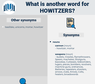 howitzers, synonym howitzers, another word for howitzers, words like howitzers, thesaurus howitzers