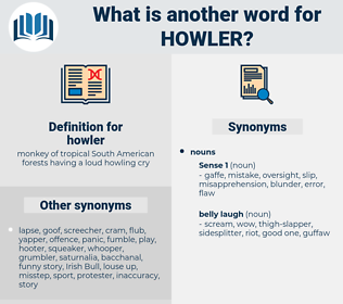 howler, synonym howler, another word for howler, words like howler, thesaurus howler